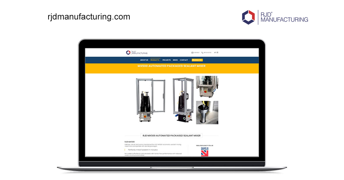 RJD MANUFACTURING WEBSITE LAUNCH